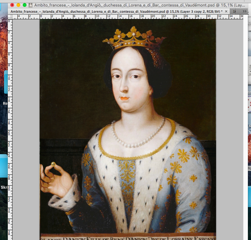 Work in progress: the portrait of my foremother Agnes Pia Douglas (probably 1441 – ?)