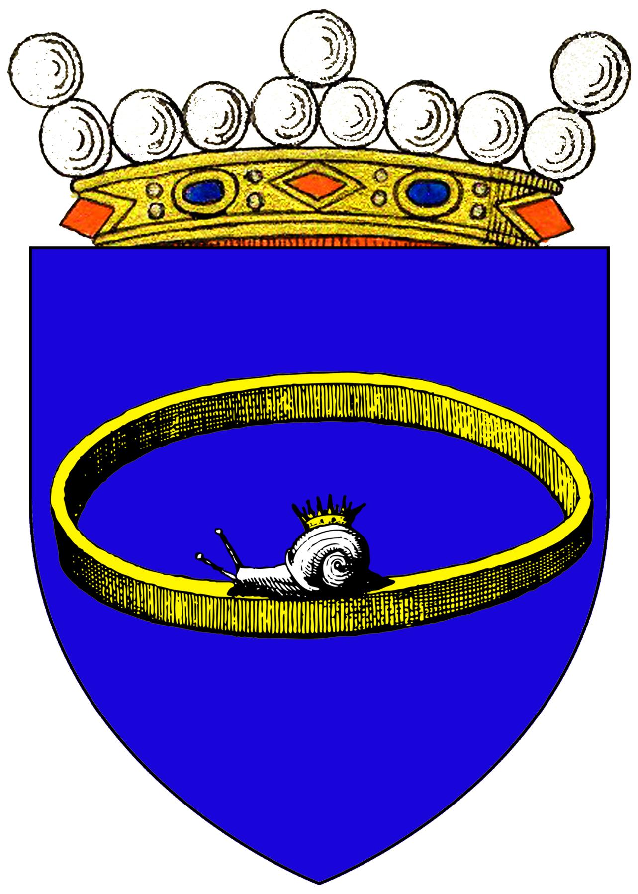 Heraldic arms: Anki von Kringeltreu created Baroness in Lorenzburg