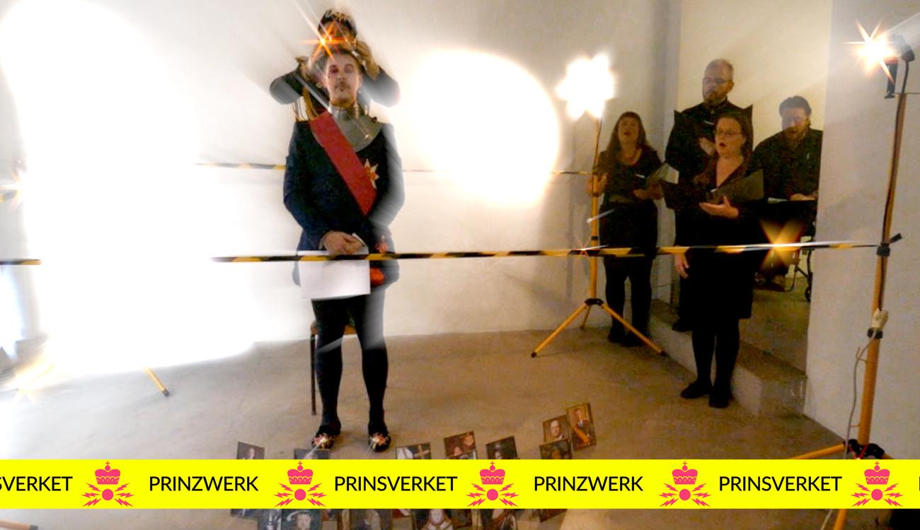 Das Prinzwerk serves a performance in Gallery Box