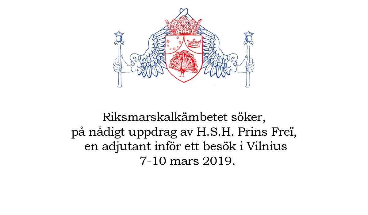 Adjutant sökes att medverka på en konferens  i Vilnius 7-10 mars 2019